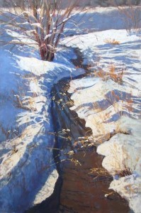"""Winter Creek"" by Lisa Stauffer."