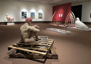 Kim Adams' installations are currently on exhibit at the Thunder Bay Art Gallery.