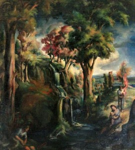 """The Source"" by Birney Quick, 1939, will be on exhibit at the Johnson Heritage Post."