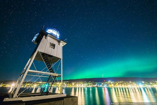bryan hansel northern lights lighthouse