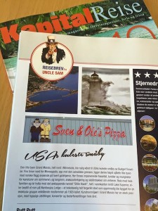Grand Marais is featured in a Norwegian travel magazine this month.