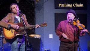 "Boyd ""Bump""Blomberg and Adam Moe perform on The Playlist on Thursday night."