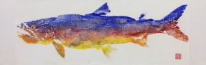 A selection of Cameron Norman's gyotaku or fish rubbings are at Sivertson Gallery.