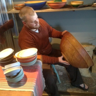 Woodturner Cooper Ternes will demonstrate bowl-making on Saturday at 10 a.m.