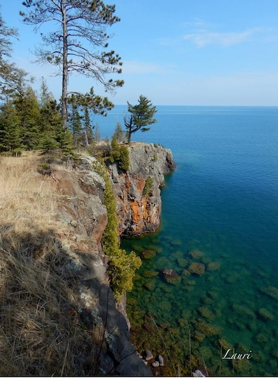 Lauri Olson-Hohman took this wonderful photo at Shovel Point while hiking in Tettegouche State Park recently. Enjoy!
