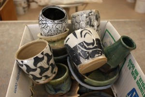 Pottery is just one of the items available at the Art Rummage Sale at the Art Colony.