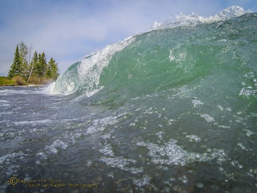 The surf at Stoney Point by Christian Dalbec.