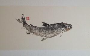 Fish print or gyotaku by Cameron Norman.