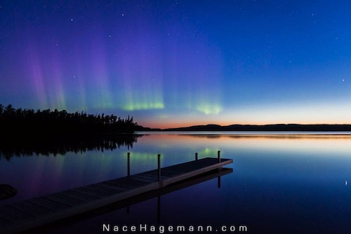 Northern lights by Nace Hagemann.