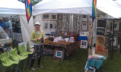 Betsy Bowen is participating in the Blueberry Festival in Ely this weekend.