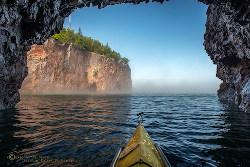 Kayaking near Palisade Head by Christian Dalbec.