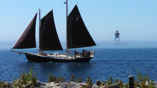 Our Grand Marais icon ... the Hjordis, which sails daily from North House Folk School. This photo is by Dena.