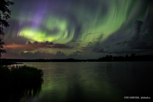 Lake of the Woods Aurora by Jakub Sisak.
