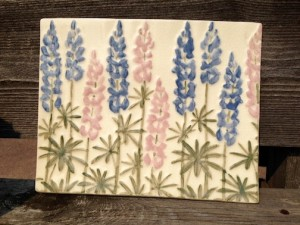 Lupine plate by Maggie Anderson.
