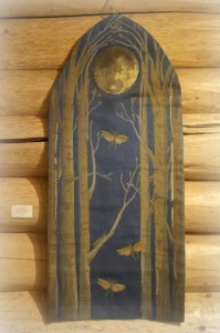 """""""Night Flight,"""" triple woven tapestry by Mary Westerman."""