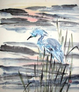 """Great Blue Heron"" by Susan Frame."