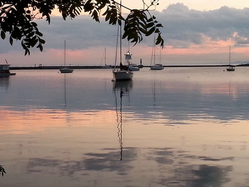 David Grinstead took this wonderful shot of the Grand Marais Harbor.