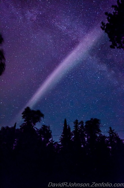 Banded Northern Lights by David Johnson.