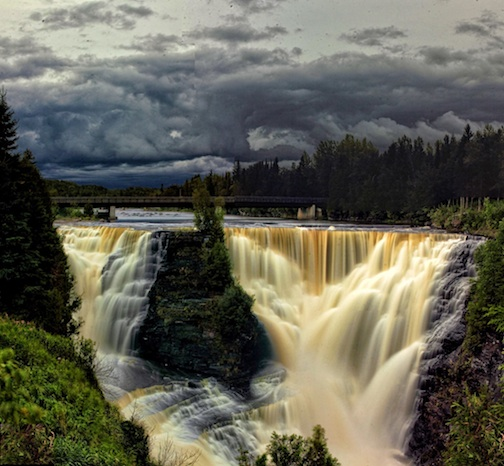 Storm over Kakabeka Falls by Don Malcom.