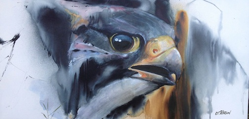 """Palisade Peregrine"" by Tim Pearson. The artist will open an exhibit at Tettegouche State Park at 7 p.m. Friday."