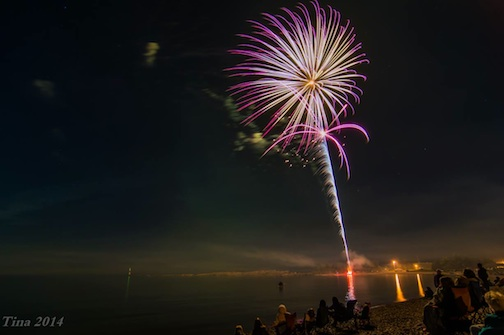 Tina Hanson caught this explosion of fireworks at Fisherman's Picnic on Saturday night.