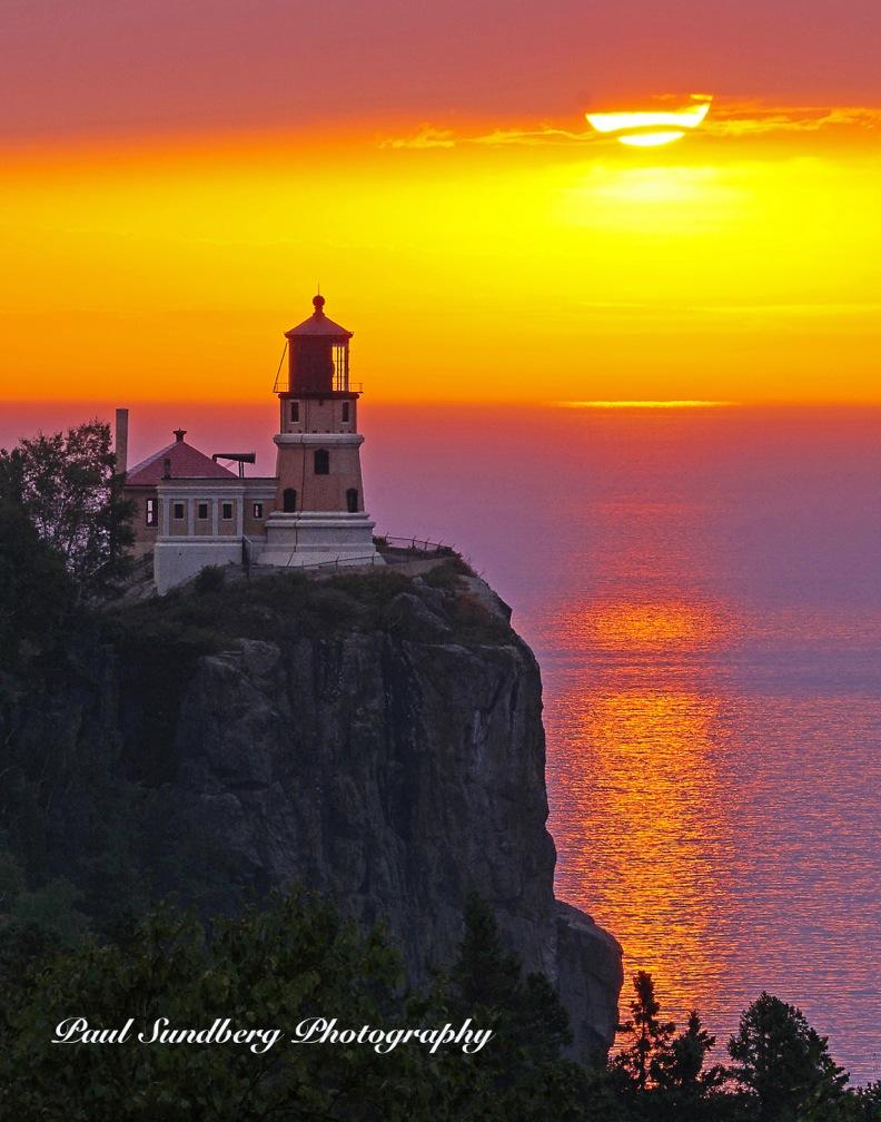 """Split Rock Lighthouse Sunrise"" by Paul Sundberg."
