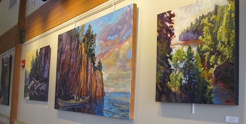 Paintings by David Gilsvik are on exhibit at the Tettegouche State Park Visitor Center