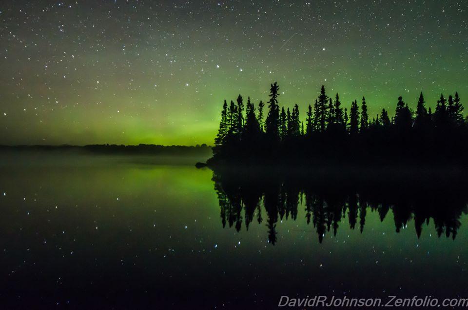 """Lake Fog Reflection"" by David Johnson."