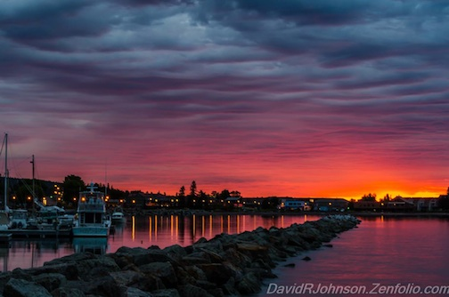 David Johnson took this photograph of a sunrise in Grand Marais recently. He calls it: Sunrise - No Color Correction. Enjoy!