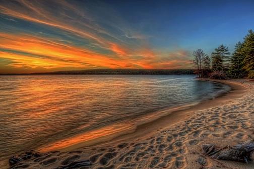 """""""Sunset in Munising, Mich."""" by John Heino."""