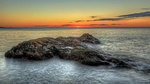 """Grand Portage Sunset"" by John Heino."
