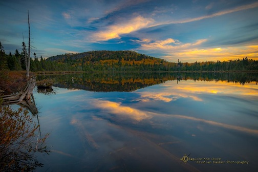 Christian Dalbec took this photo of Oberg Lake reflecting Oberg Peak the other day. Enjoy!