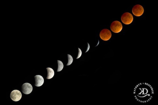 Super Harvest Blood Moon by Kathryn DesForges.