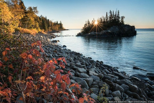 """""""Fall Color Sunrise at the Rock,"""" by Bryan Hansel."""