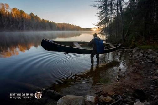 October morn on Sandpit Lake by Ken Hupila.