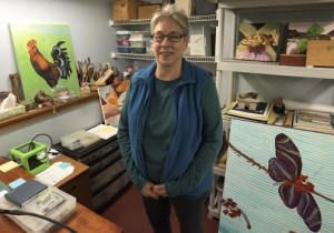 Mary Beams in her Grand Marais studio. Photo by Mark Tessier.