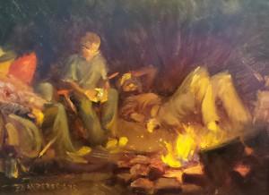 night paint Firelight by Scott Lloyd Anderson