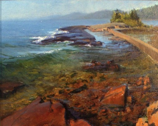 """Clearwater"" by Bob Upton, won 1st place in the Plein Air Competition."