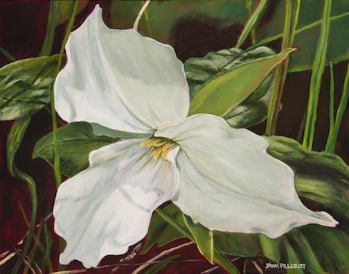 """""""A Tribute to Janis--Trillium"""" by Sandra Pillsbury Gredzens."""