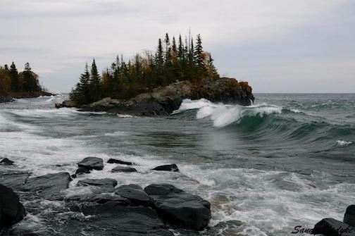 """Fall Waves"" by Sandra Updyke."