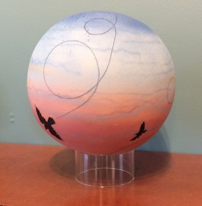Raven Sky Globe by Pat & Ken Larson