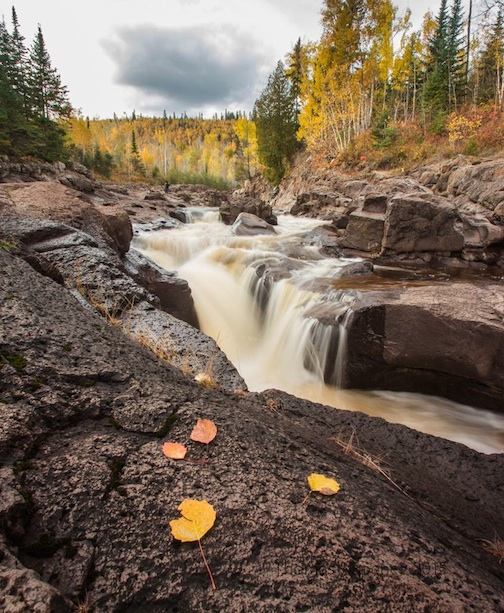 """""""Fall Along a Falls Yesterday"""" by Thomas Spence."""