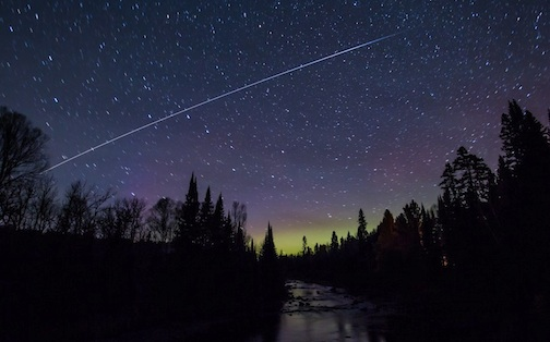Thomas Spence caught the International Space Station streaking across the sky the other night.