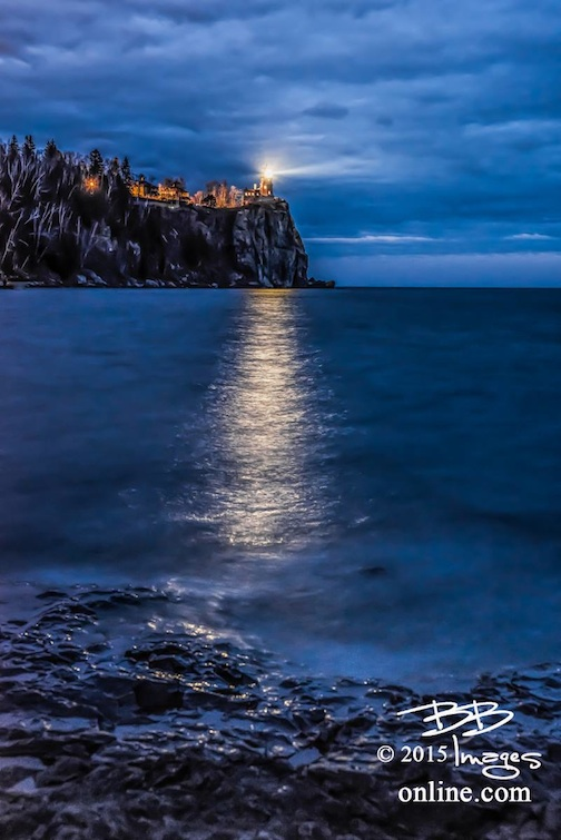 Split Rock Lighthouse, Nov. 10, by Bruce Bergeron.