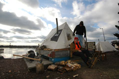 Winterer's Gathering features a winter tent camp.