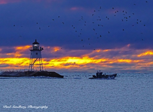 Grand Marais Sunrise by Paul Sundberg.