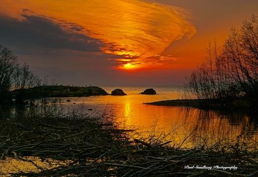 Sunset Over the Beaver Pond by Paul Sundberg.
