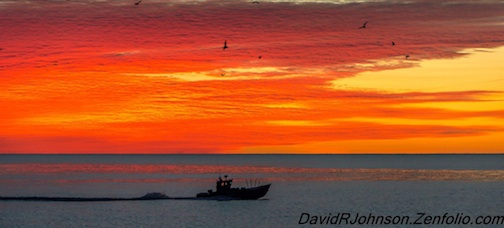 Red Sky in the Morning ... by David Johnson.