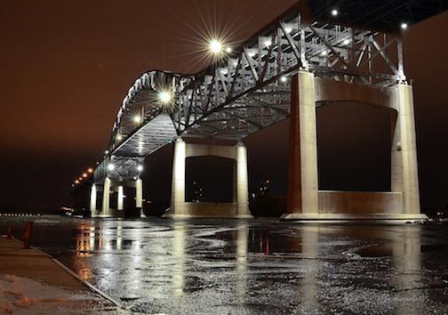 Blatnik Bridge, Nov. 18, 2014 by Gregory A. Israelson.