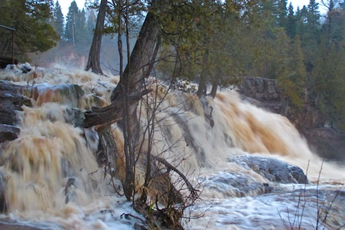 All the rivers were roaring after the rain this week,including Gooseberry. Lyn Wermter took this shot on Wednesday, Nov. 18.